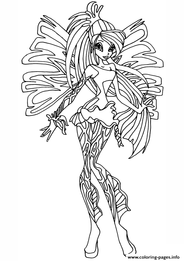 Club Sirenix Bloom Winx Coloring Pages