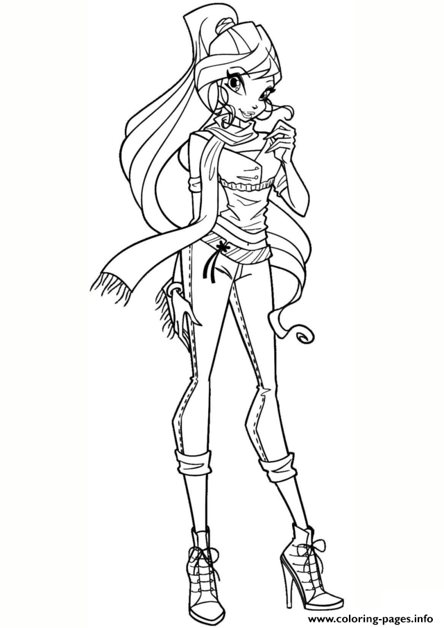 Winx Bloom Winx Club Coloring Pages