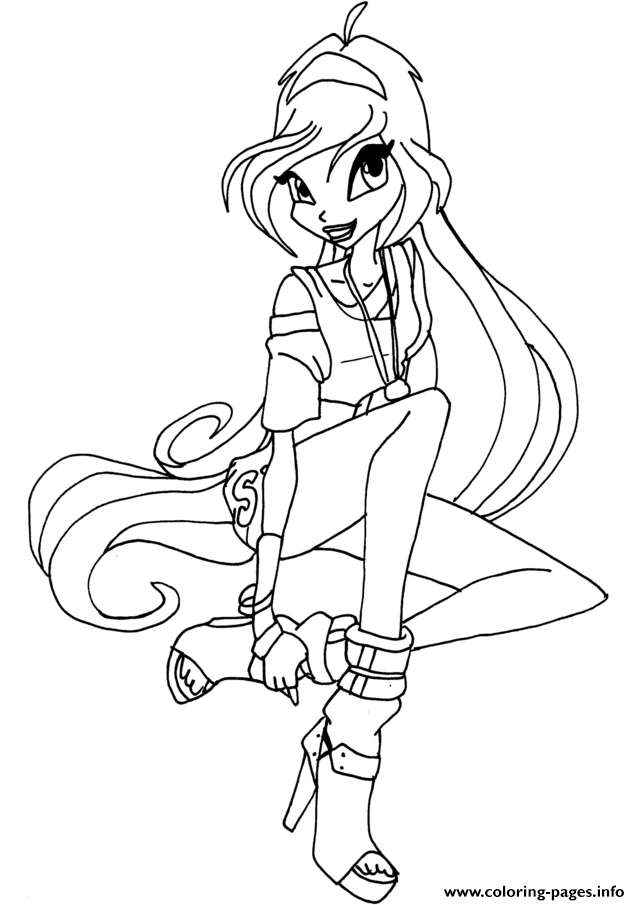 Winx Disco Bloom Club Coloring Pages