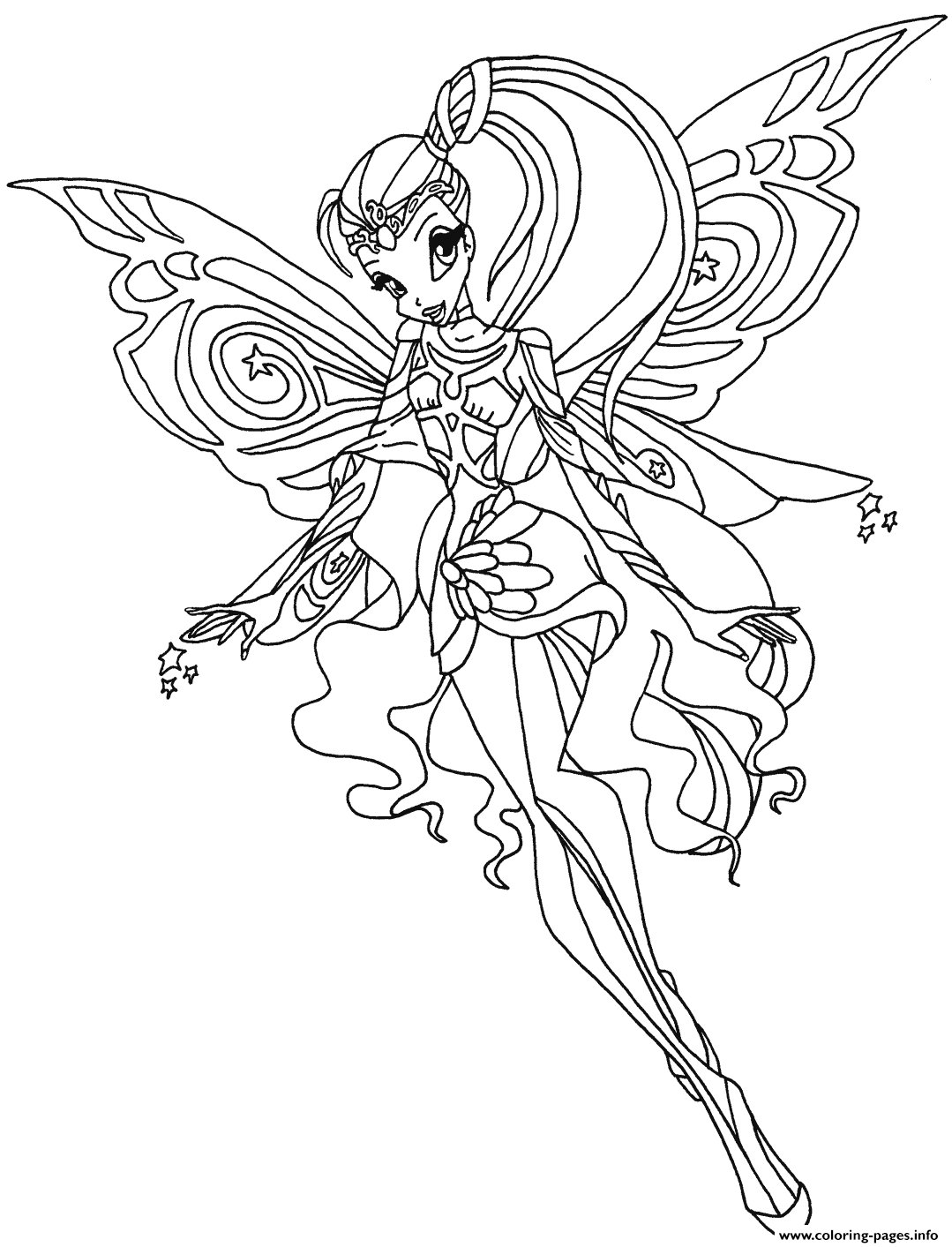 Bloomix Stella Winx Club Coloring Pages
