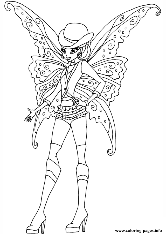 Gothic Stella Winx Club Coloring Pages Print Download 315 Prints