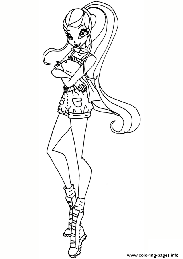 Safari Stella Winx Club Coloring Pages