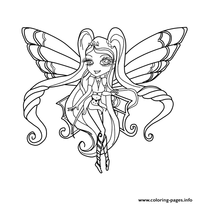 Chibi Stella Enchantix Winx Club Coloring Pages Print Download