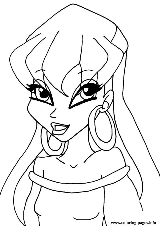 Stella Club Winx Coloring Pages