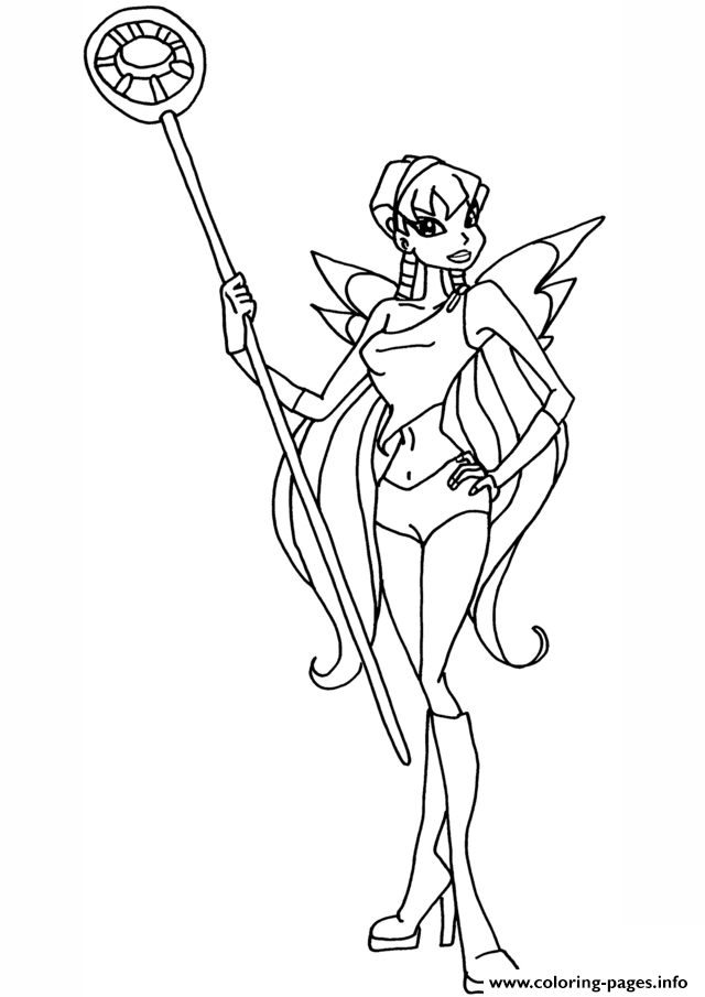 Stella Cute Winx Club coloring pages