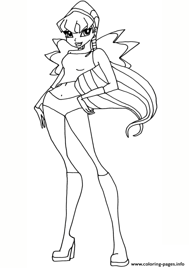 Stella 4 Winx Club coloring pages
