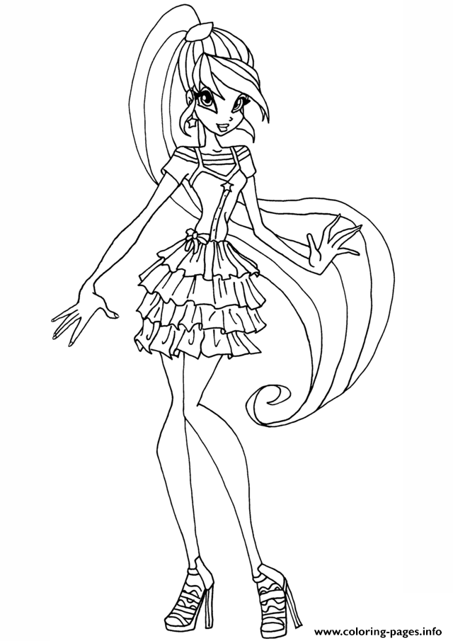 Stella Gardenia Winx Club Coloring Pages Printable
