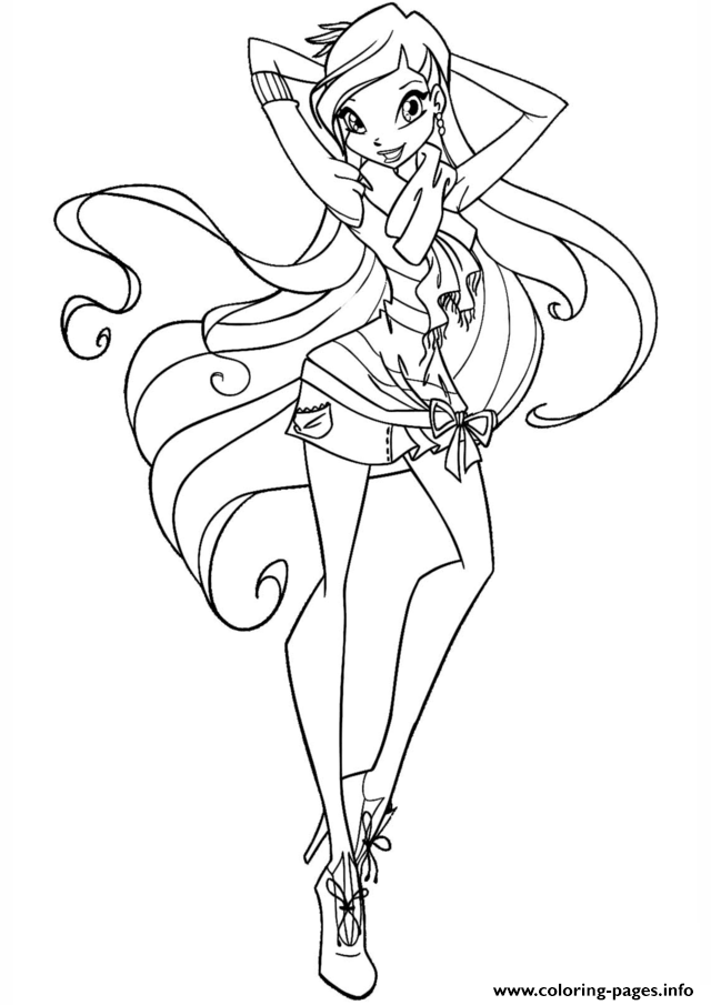 Winx Stella Club Coloring Pages