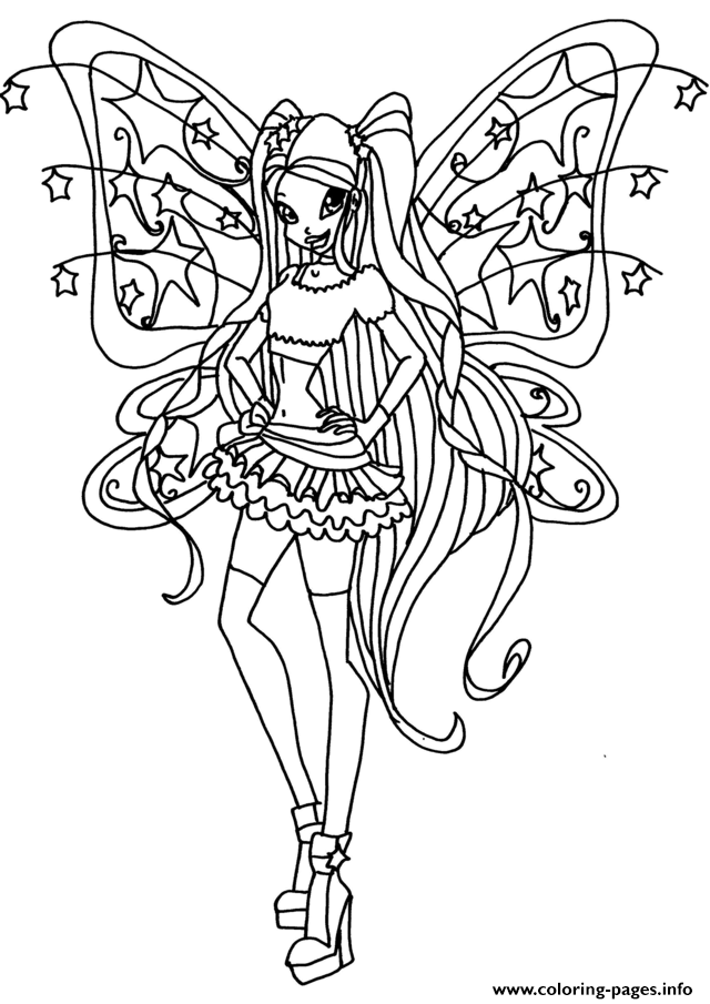 Believix Stella Winx Club Coloring Pages Printable