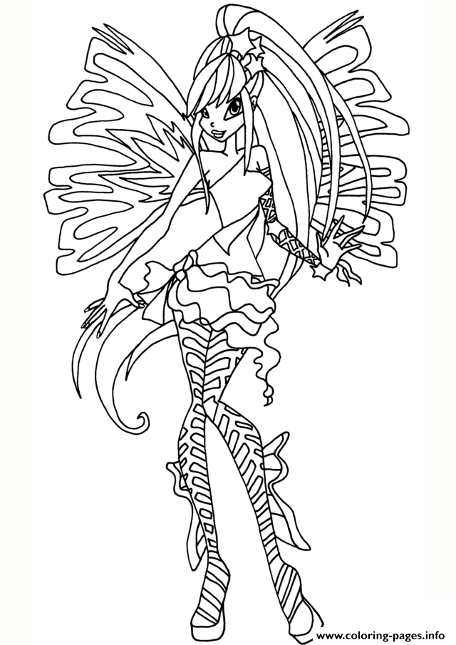 Sirenix Stella Winx Club Coloring Pages