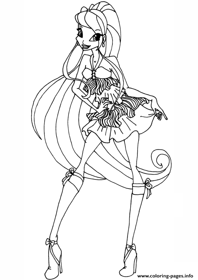 Stella season 5 winx club coloring pages printable for Winx stella coloring pages