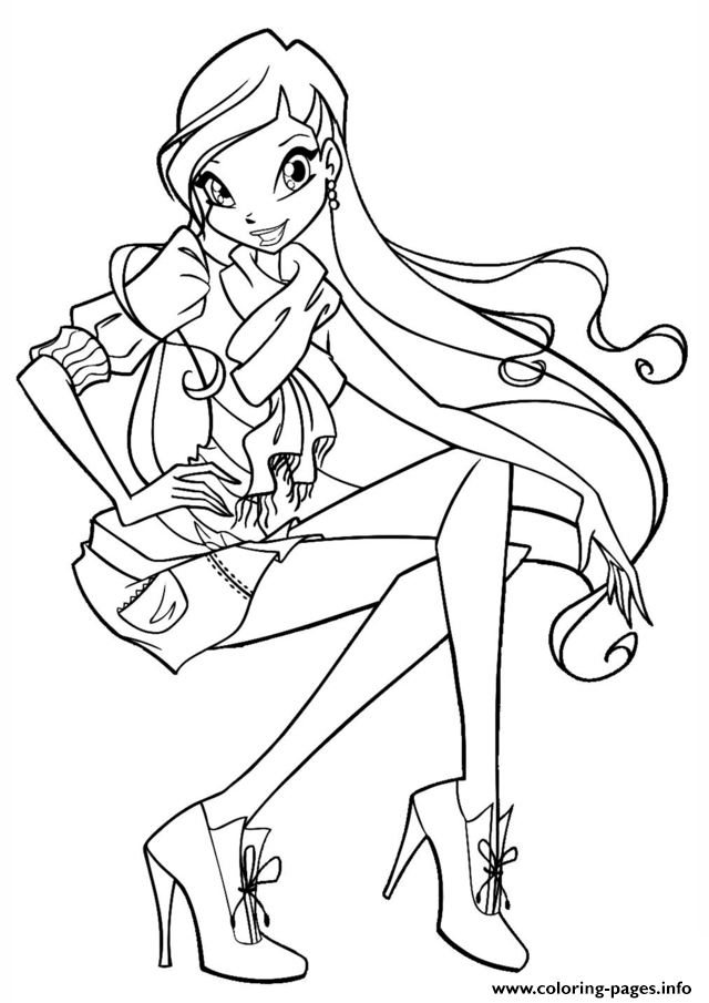 Stella 3 Winx Club Coloring Pages