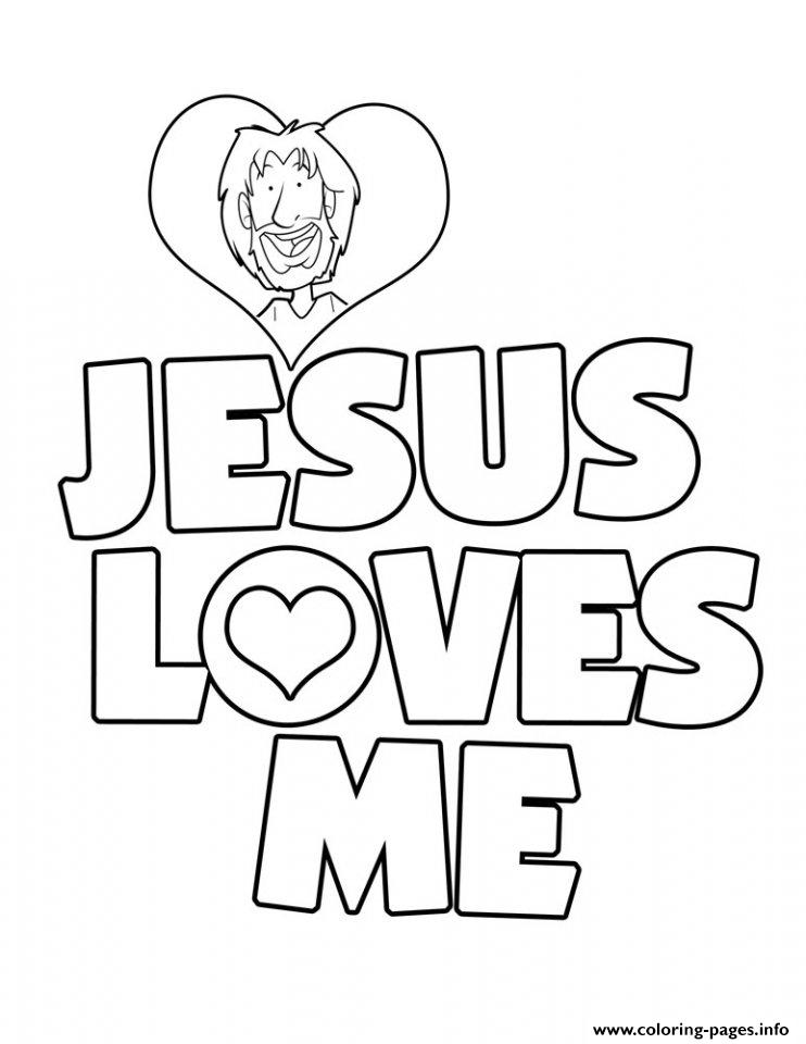 Jesus Loves Me Coloring Pages Printable - Jesus-love-coloring-pages