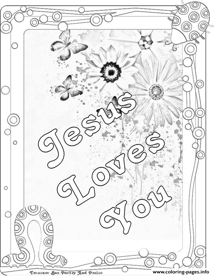 Jesus Loves You Coloring Pages Printable - Jesus-love-coloring-pages