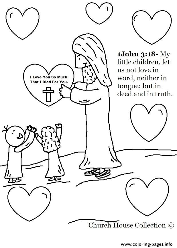 Jesus Christ Love Coloring Pages Printable
