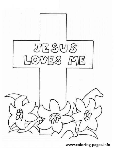 jesus loves me picture coloring pages printable