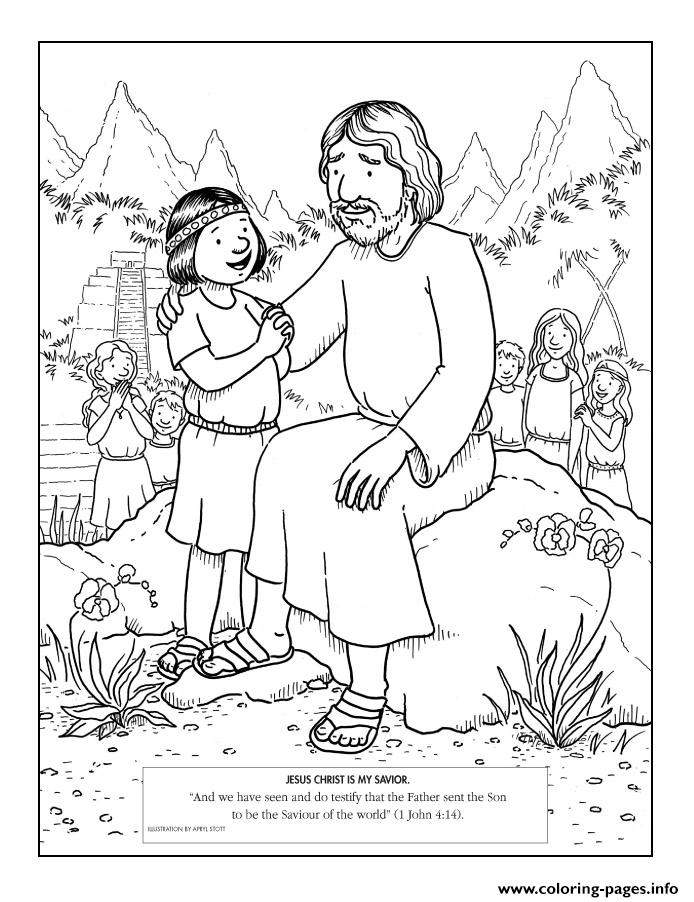 jesus christ is my savior coloring pages printable