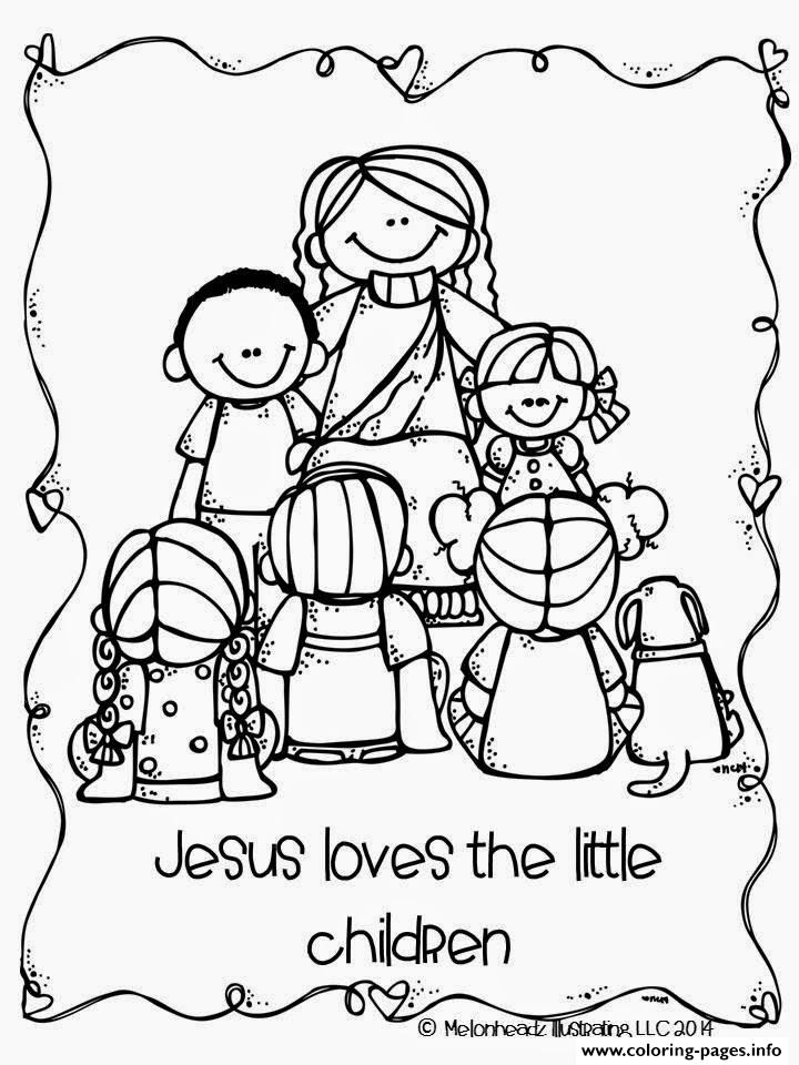 jesus loves the little children coloring pages print download - Childrens Coloring Pages Print