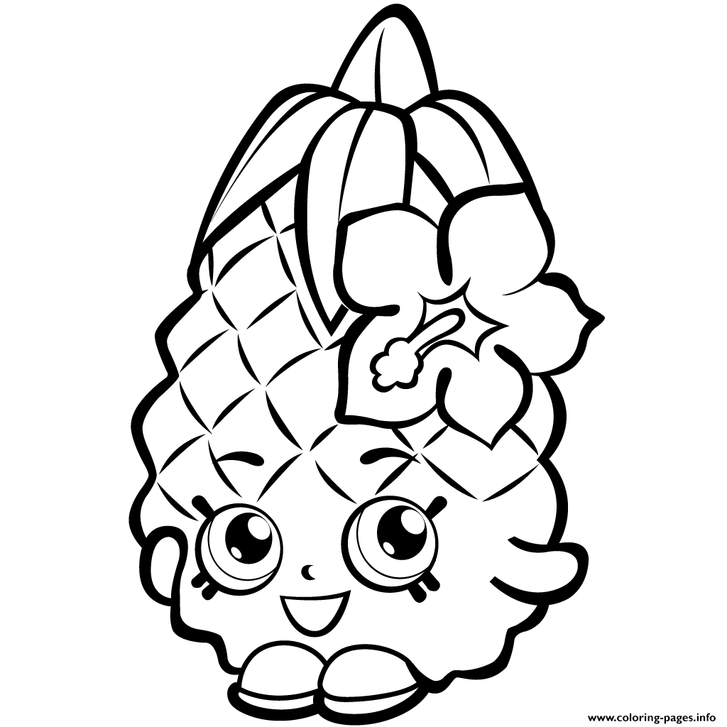 Shopkins coloring pages to print out - Fruit Pineapple Shopkins Season 1 Colouring Print Fruit Pineapple Shopkins Season 1 Coloring Pages