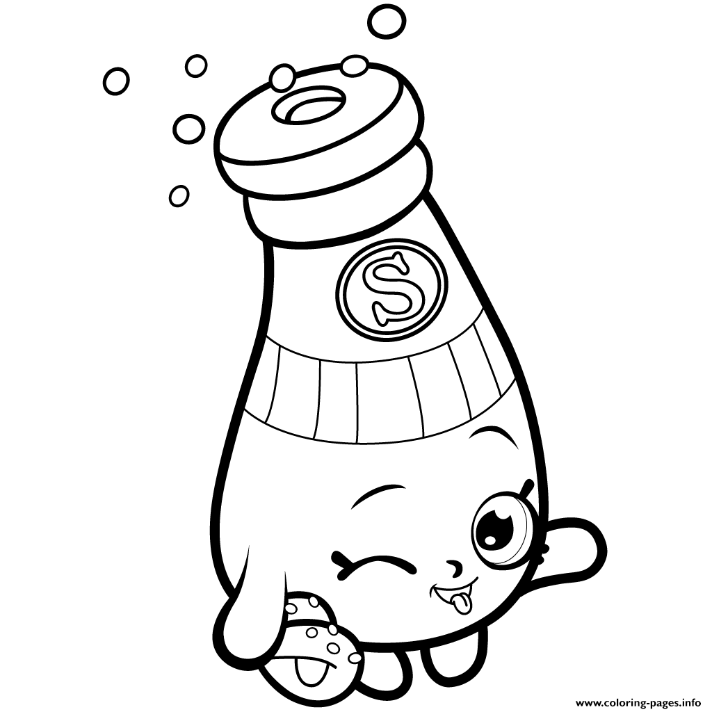 Pantry Sally Shakes Shopkins Season 1 Coloring Pages Printable