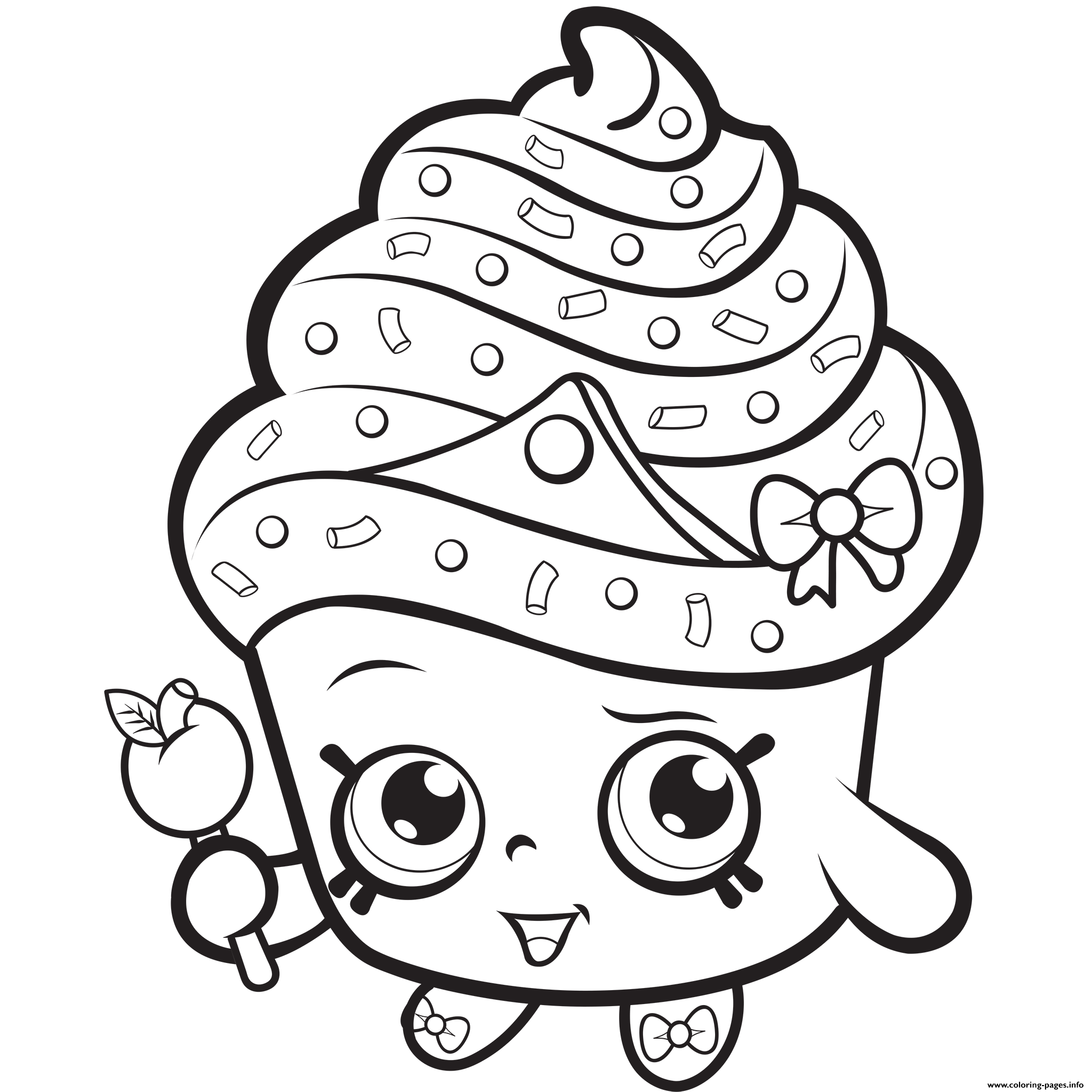 Shopkins coloring pages polly polish - Cupcake Queen Exclusive To Color Colouring Print Cupcake Queen Exclusive To Color Coloring Pages
