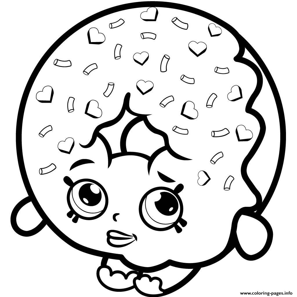 Dlish Donut Shopkins Season 1 To Print Coloring Pages