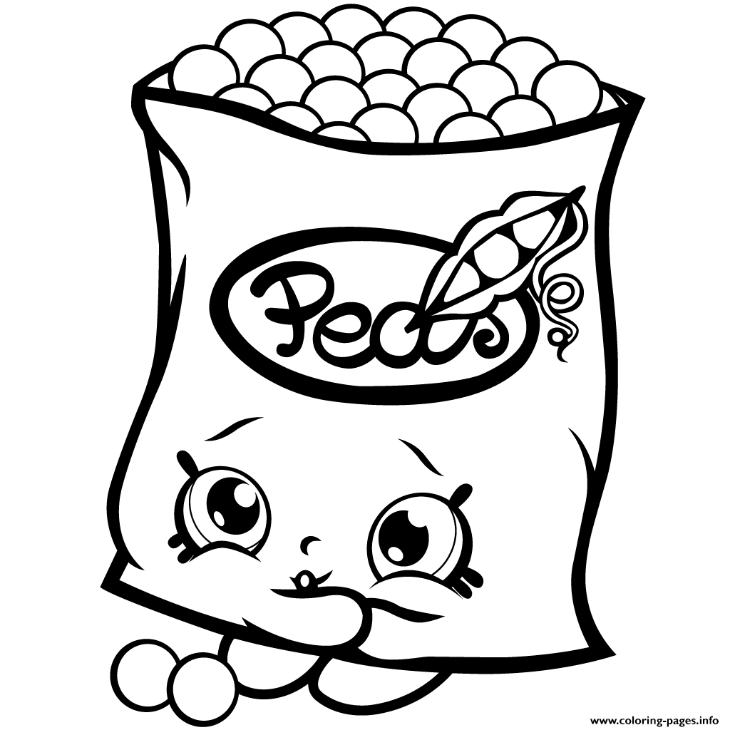 Freezy Peazy Shopkins Season 1 Peas Coloring Pages