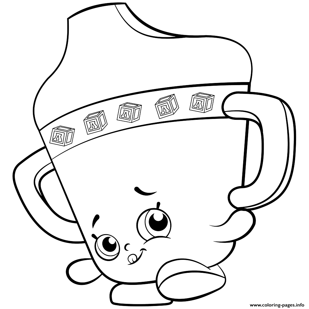 Baby Sippy Sips Shopkins Season 2 Coloring Pages