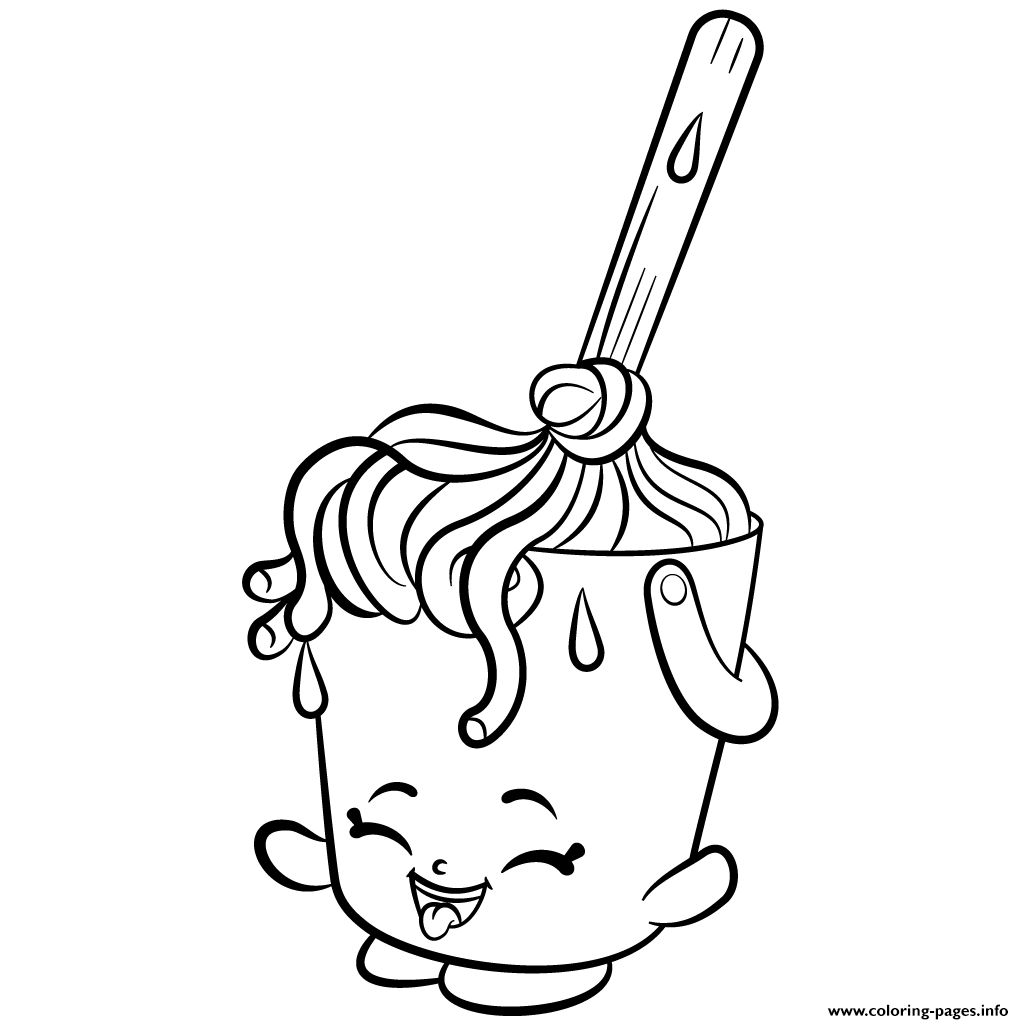 Cleaning Molly Mops Shopkins Season 2 Coloring Pages