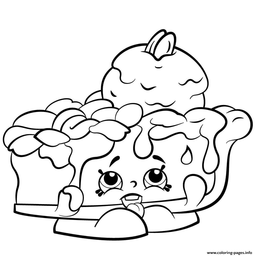 Pecanna Pie To Print Shopkins Season 2 Coloring Pages
