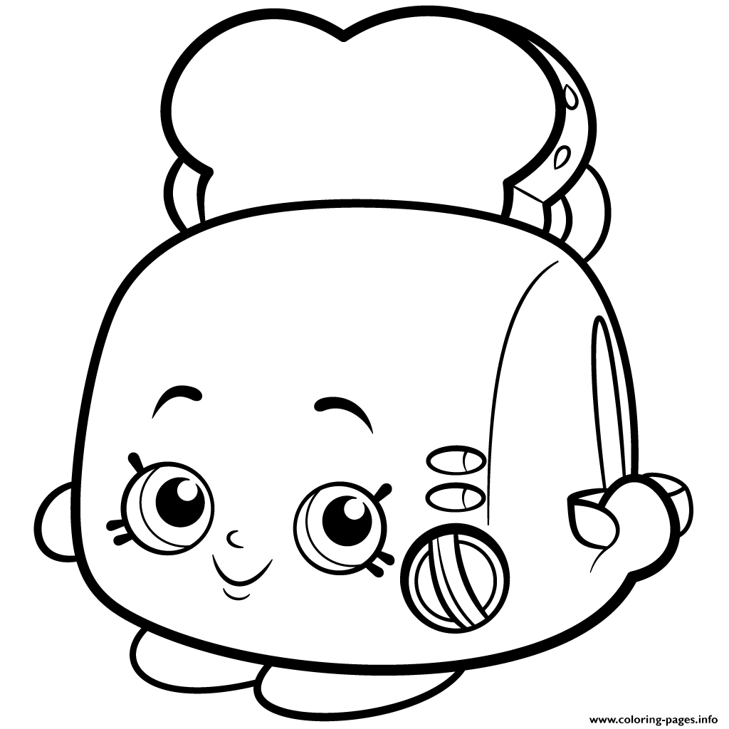 Toasty Pop White Toaster Shopkins Season 2 Coloring Pages