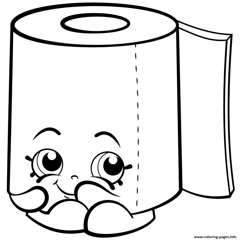Sweat Leafy Roll Of Toilet Paper Shopkins Season 2 Coloring Pages Print Download 422 Prints 2016 10 07