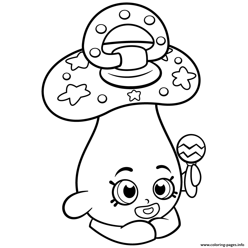 Shopkins coloring pages to print out - Baby Peacekeeper Dum Mee Mee Shopkins Season 2 Coloring Pages Printable
