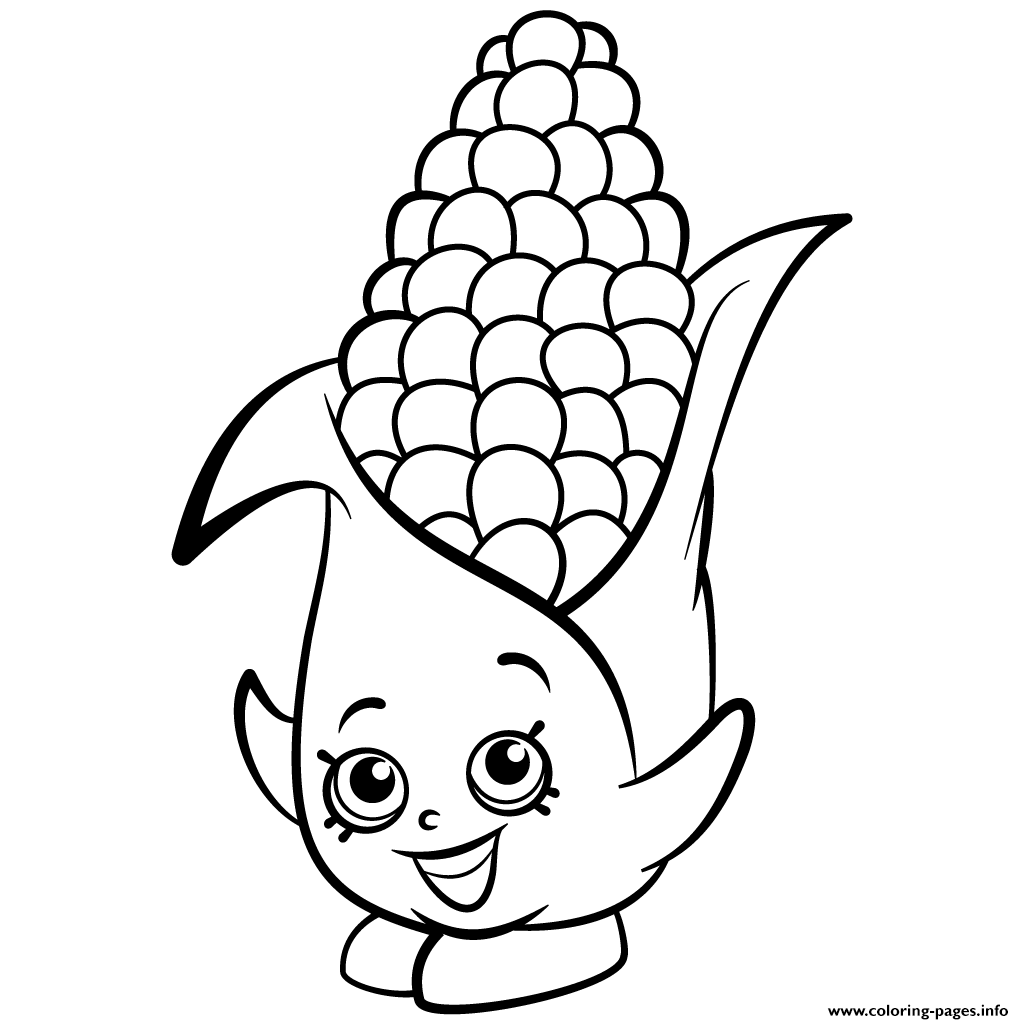 Corn On Cob Template Sketch Coloring Page
