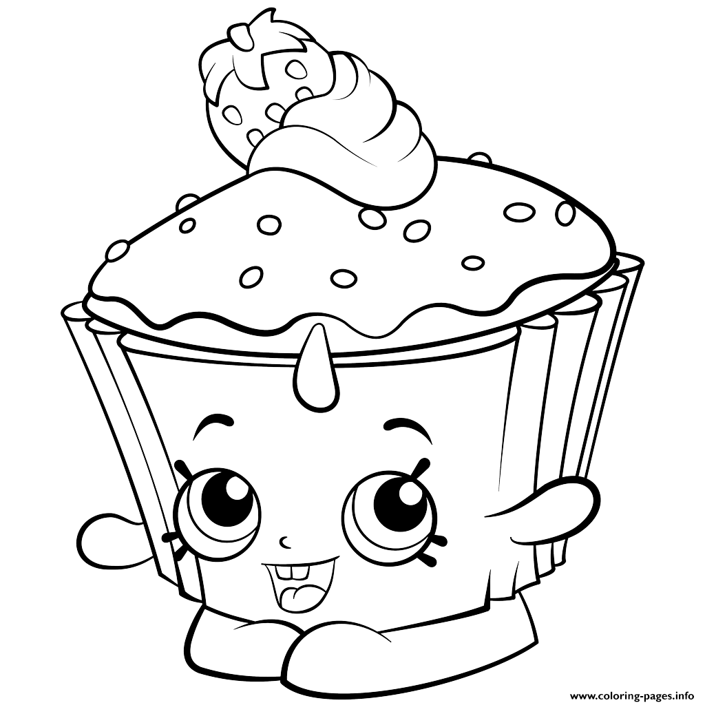 Exclusive Colouring Pages Cupcake Chic Shopkins Season  Coloring Pages Printable