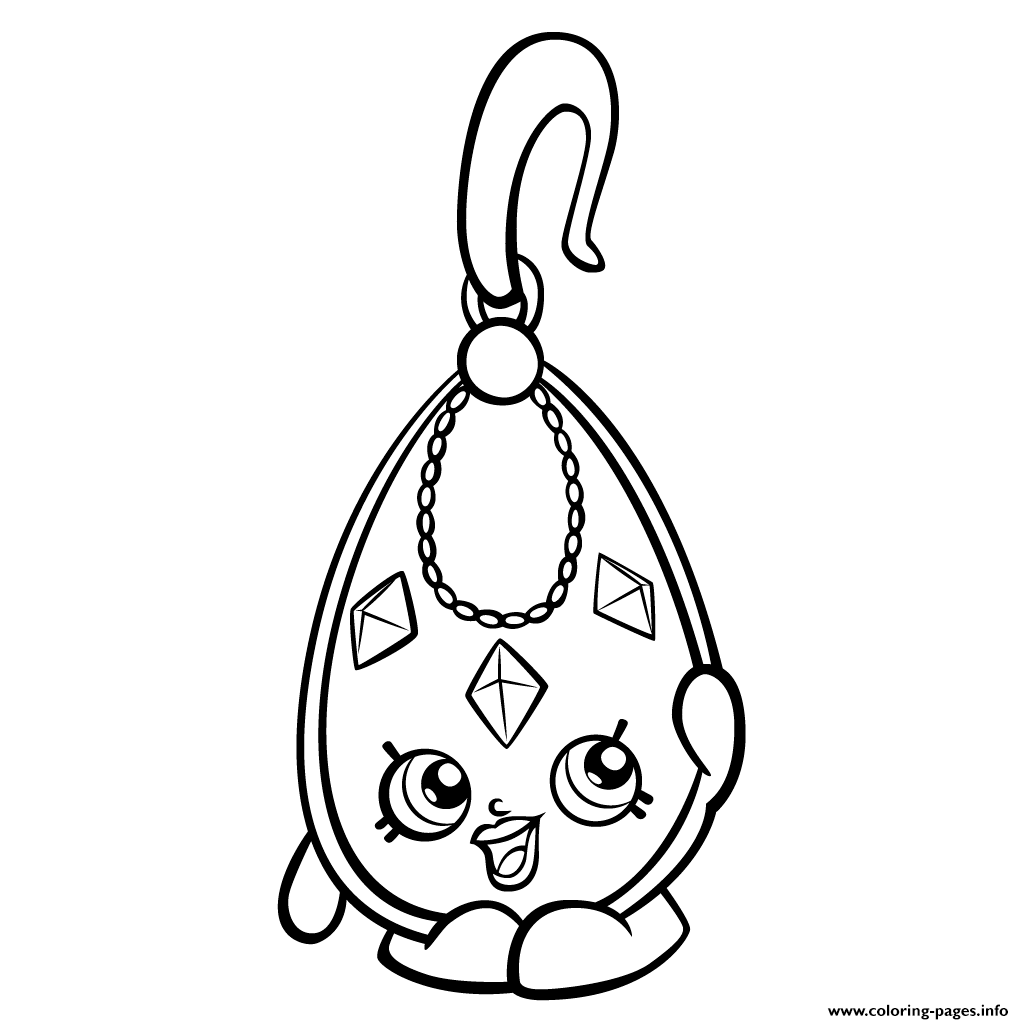 Shopkins coloring pages season 3 -  Print Exclusive Ruby Earings S Shopkins Season 3 Coloring Pages