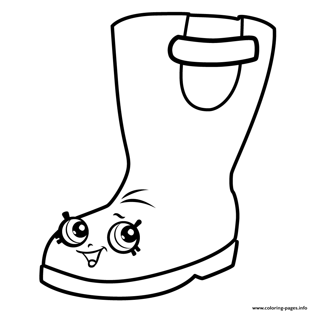 Rain boots jennifer rayne shopkins season 3 coloring pages for Boots coloring pages to print