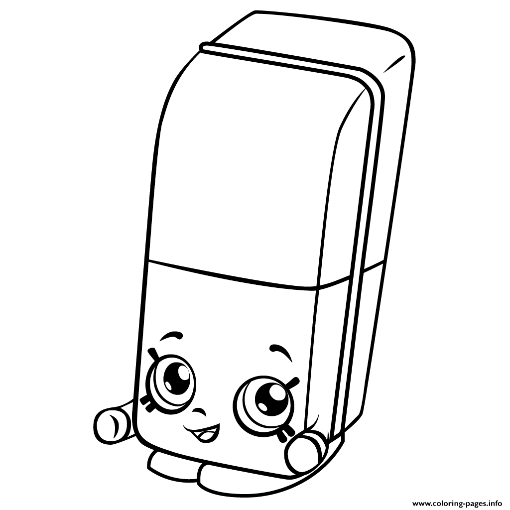 Shopkins coloring pages season 3 -  Print Free Erica Eraser Shopkins Season 3 Coloring Pages