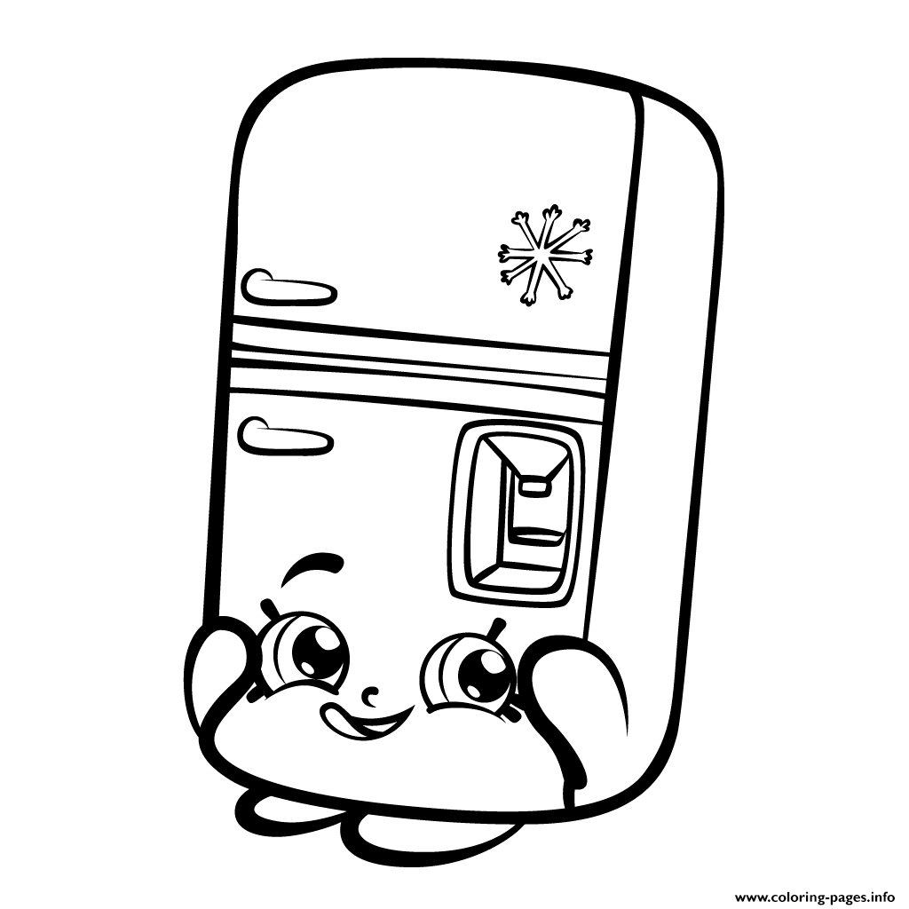 Frost t fridge refrigerator shopkins season 3 coloring pages printable