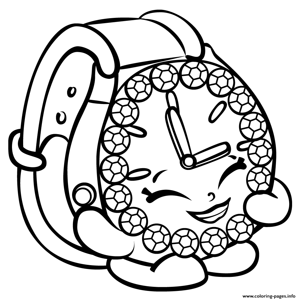 ticky tock watch shopkins season 3 coloring pages printable