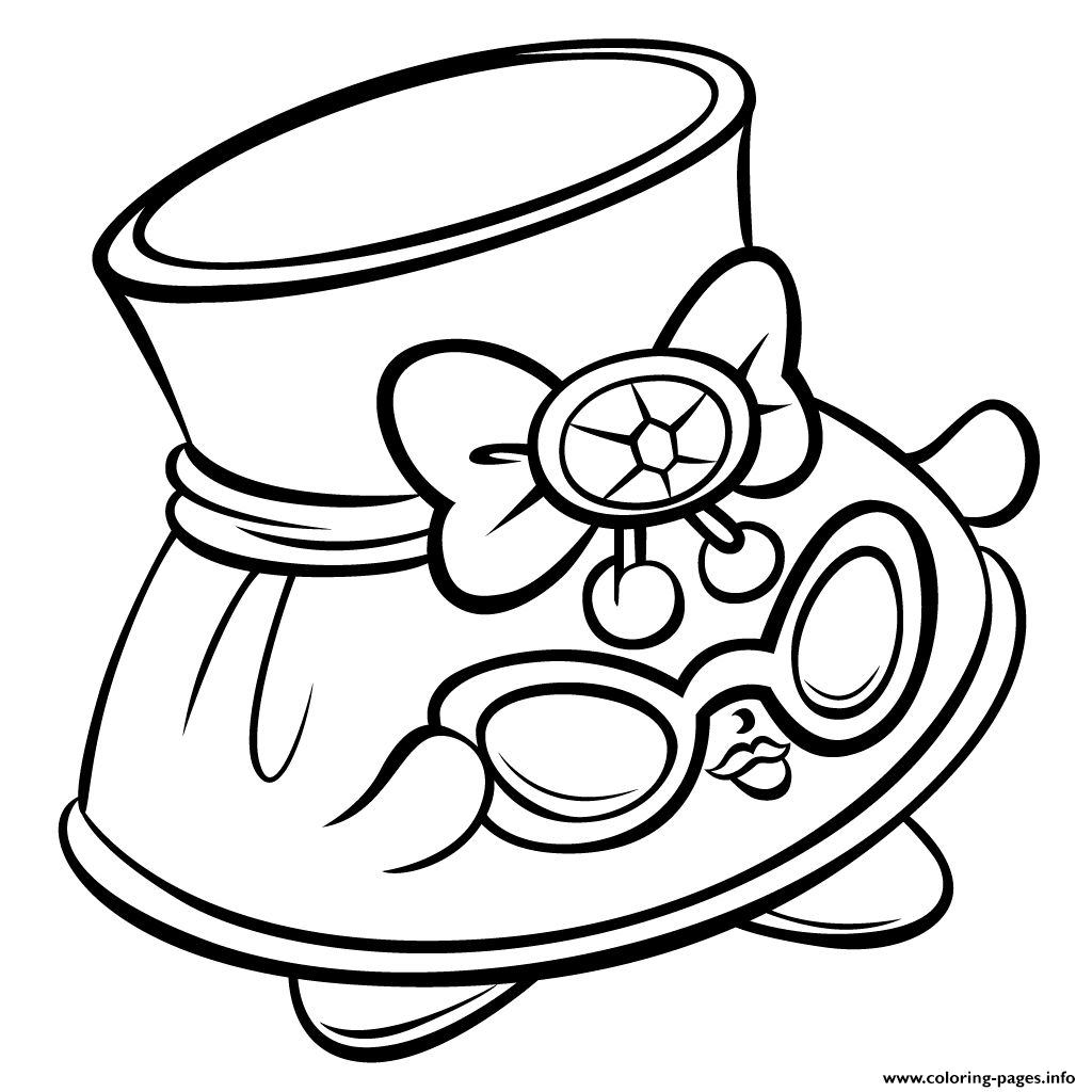 Hat Shady And Sunglasses Shopkins Season 3 Coloring Pages