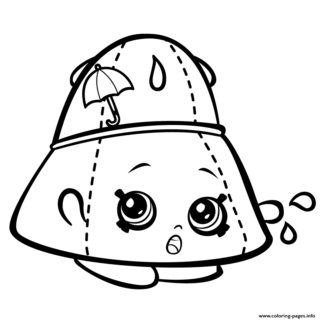 Rain Hat Taylor Rayne Shopkins Season 3 Coloring Pages