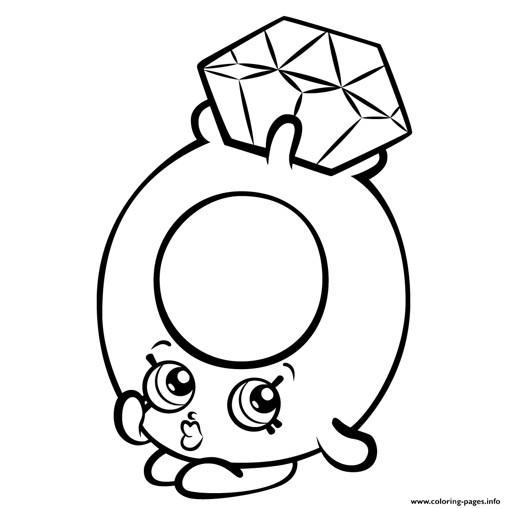 roxy ring with diamond shopkins season 3 coloring pages printable - Hopkins Coloring Pages Print