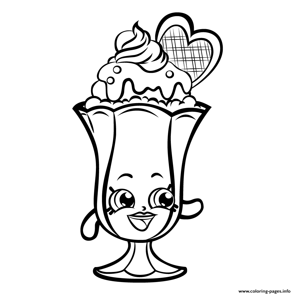 Suzie Sundae Printable Shopkins Season 3 Coloring Pages