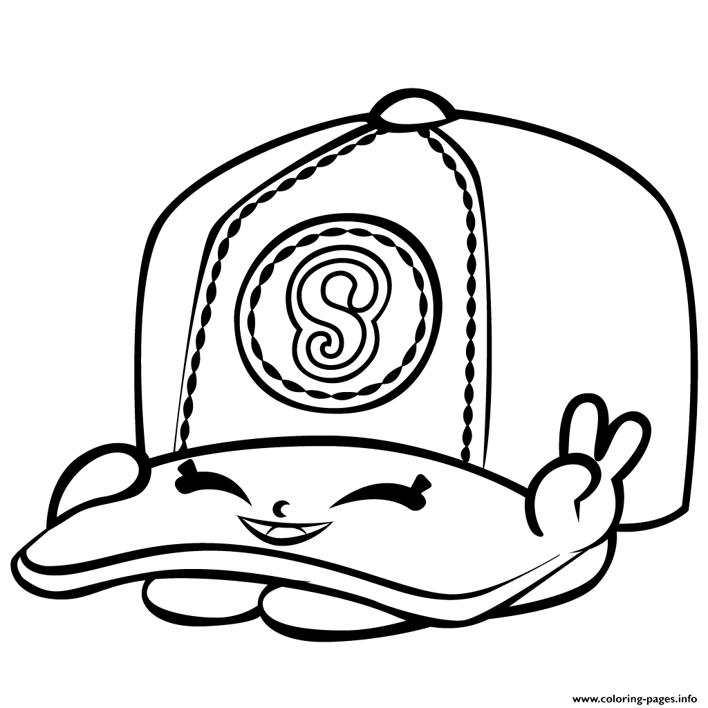 Baseball Casper Cap Shopkins Season 3 Coloring Pages Print Download