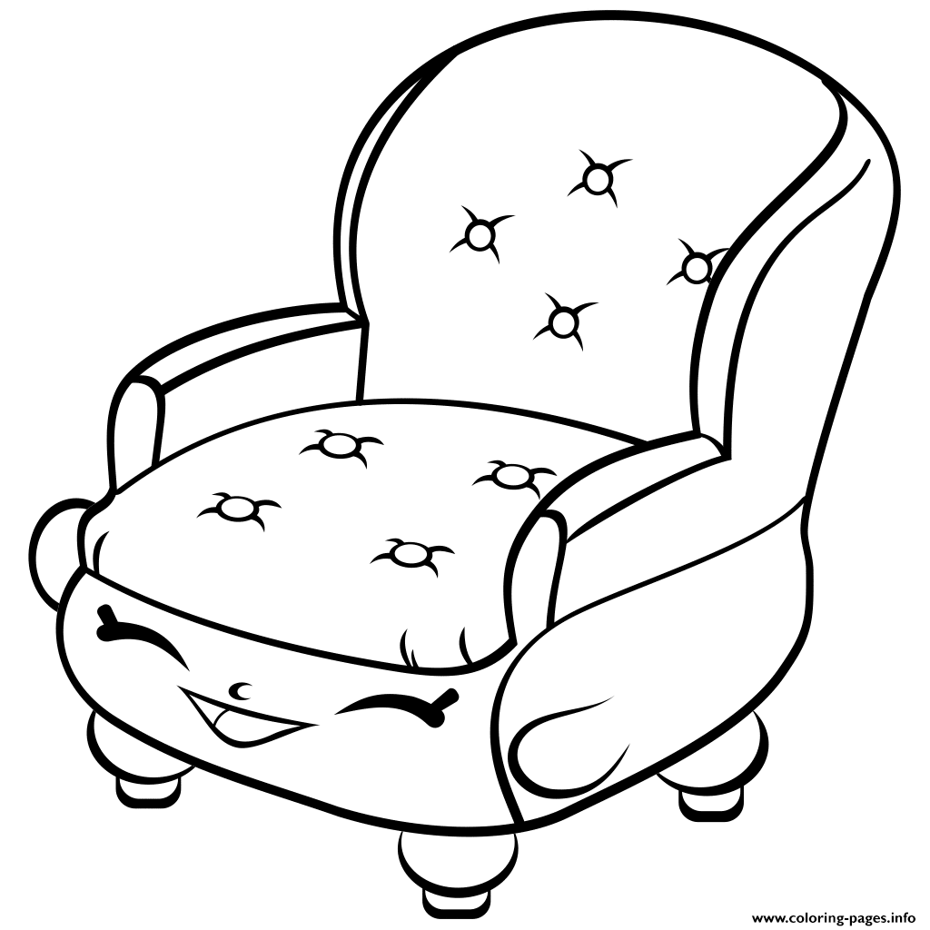 Chair Shopkins Season 4 Coloring Pages Printable