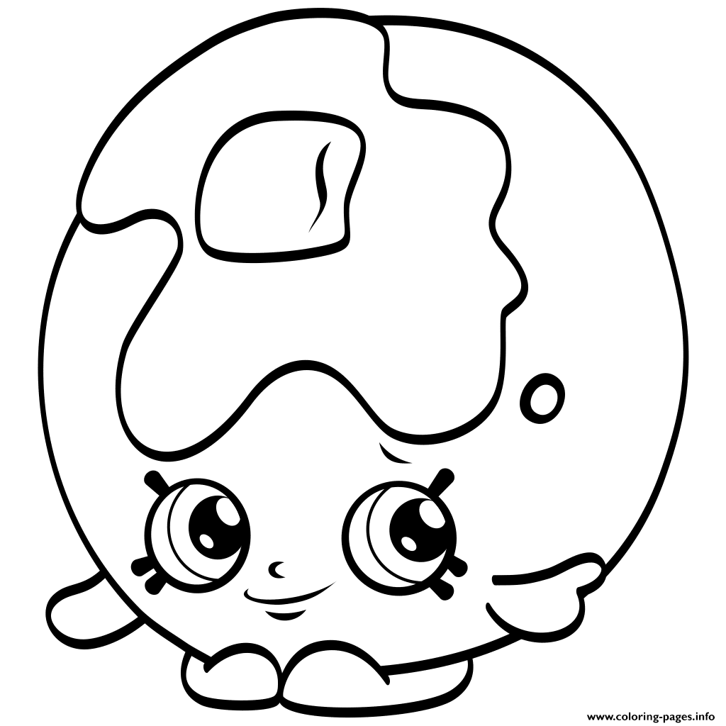 Clipart Black Shopkins Season 4 Coloring Pages Print Download