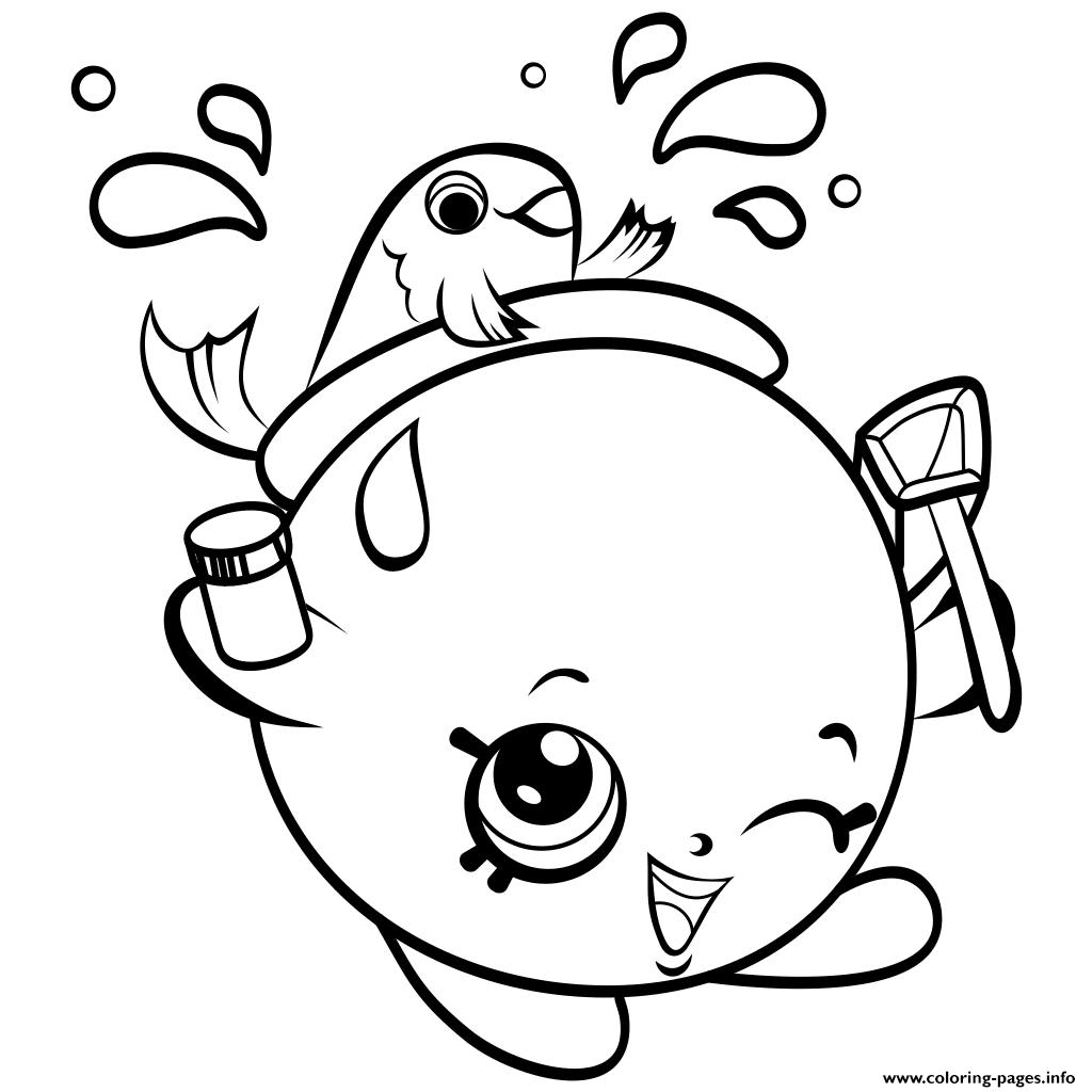 FishBowl Shopkins Season 4 Coloring Pages Printable
