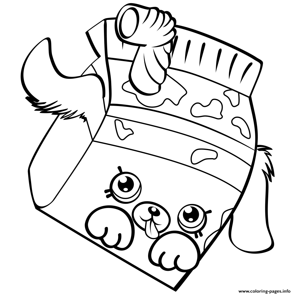 Petkins Dog Snout Shopkins Season 4 Coloring Pages Printable