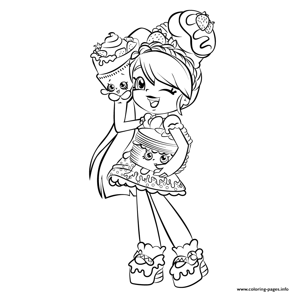 Cute Girl Shopkins Shoppies Coloring
